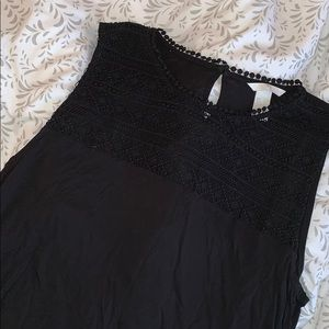 Lace top tank top